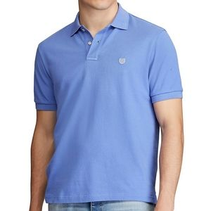 Chaps blue short sleeve coolmax polo collar shirt